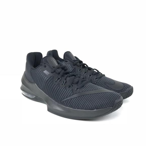 pretty nice bc568 d26b0 Nike Mens Air Max Infuriate 2 Low Black Shoe 7.5
